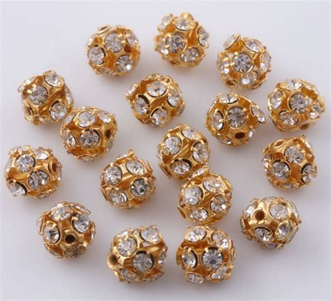 where to buy gold to make jewelry 20 pcs gold plated pave spacer charms