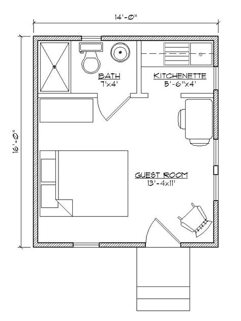 Garage Guest House Floor Plans by Small House Plan For Outside Guest House Make That A