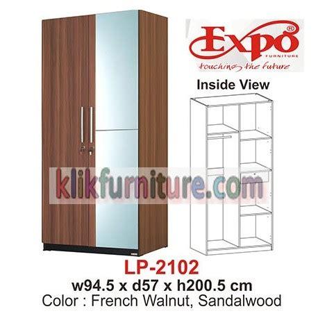 Lemari Pakaian 3 Pintu Expo Lp 2103 Walnut lp 2102 expo lemari pakaian cermin harga sale
