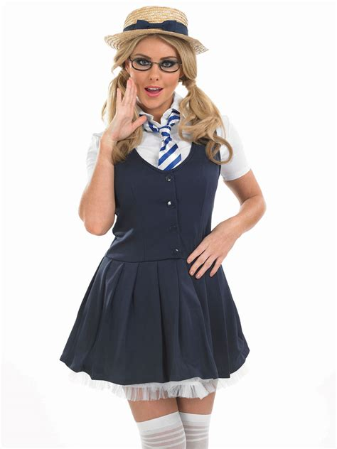 Adult school girl tutu costume fs3272 fancy dress ball