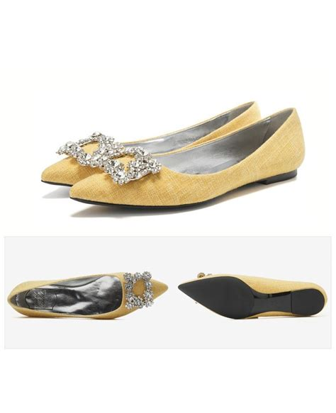 comfortable flats shoes comfortable yellow wedding shoes flats with rhinestones