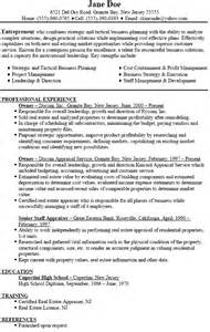 sle resume for a business owner