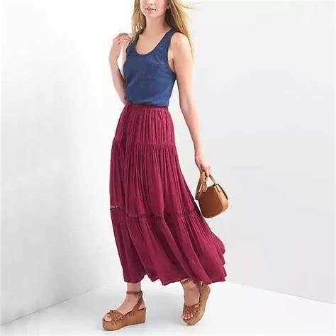 Maxi Stefanie Top N Skirt bobeau ruched waist side slit maxi skirt rank style