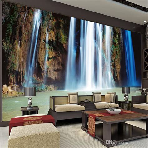 bedroom waterfalls custom large landscape waterfalls wallpaper wall painting