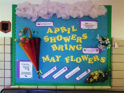 educational themes for april april showers bring may book worms april may board month