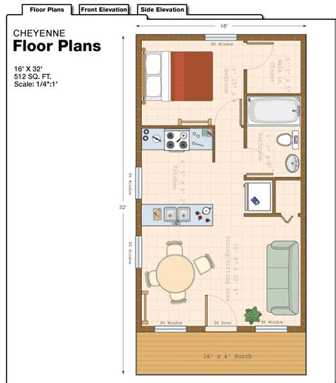 3 Bedroom Bungalow by 16 X 32 Cabin Floor Plans 16x16 Cabin Floor Plans Cabin