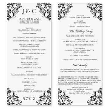wedding program template microsoft word templatesz234