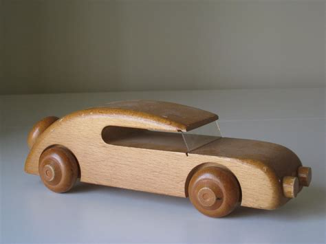 wooden car the norge thrifter kay bojesen denmark wooden toy car