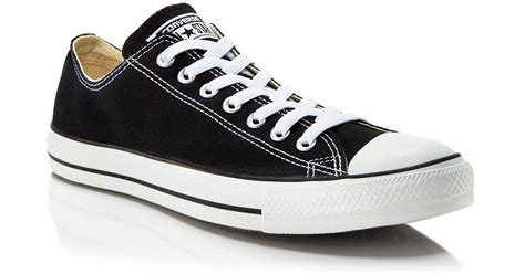 Converse Low Clasic List Merah converse s chuck classic all lace up sneakers in black for lyst