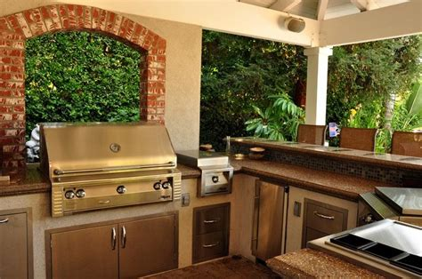 backyard kitchen ideas outdoor kitchen layouts sles ideas landscaping