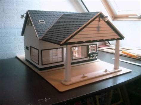 Popsicle Stick House Floor Plans building a scale model house old gas station in 1 18 scale