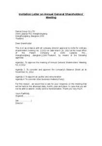 sle invitation letter to annual general meeting annual meeting invitation sle invitations ideas
