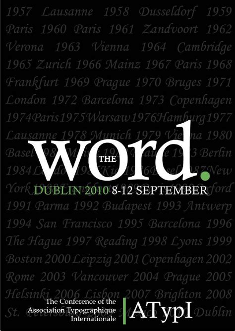 design poster word the word poster tristan o connor vs1a poster design