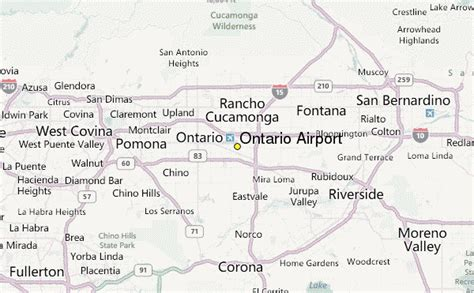 california map of airports ontario airport weather station record historical