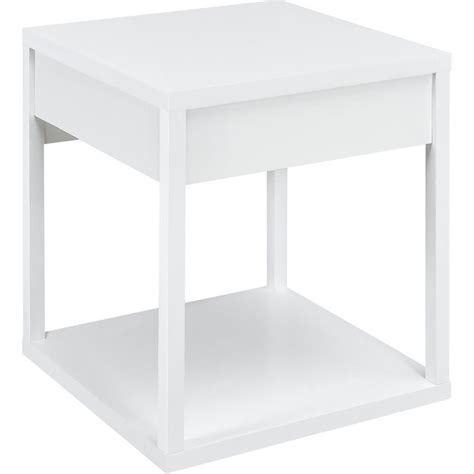 Square Side Tables Living Room Square End Table In White 5185196w