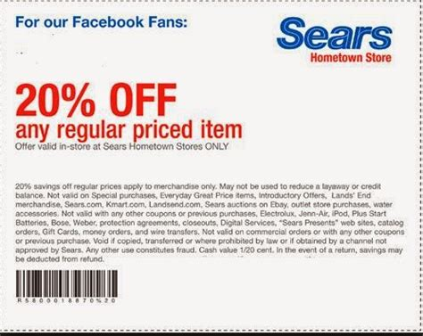 Printable Sears Outlet Coupons | sears printable coupons august 2015