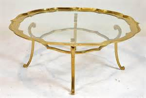 Retro Glass Top Coffee Table Vintage Glass And Brass Top Coffee Table With Shaped Top