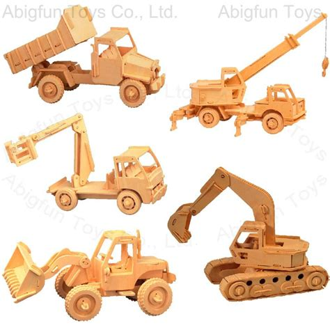 Woodwork Designs by Wooden Construction Kit Vehicle Craft Model 551 556