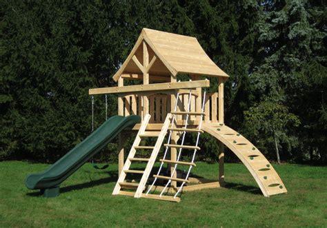 space saving swing sets cedar swing sets the kelton space saver climber