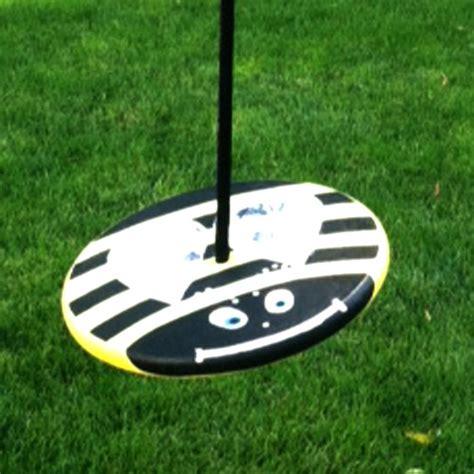 disc rope swing yellow bumble bee wood disc swing combo treeswingstore com