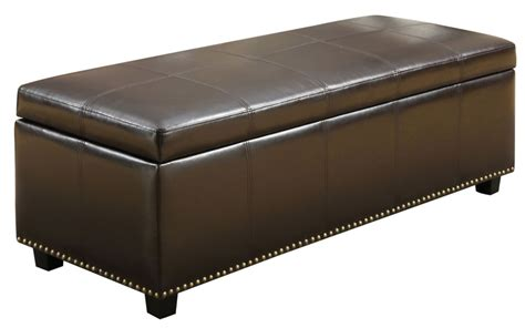 Bench Storage Ottoman Simpli Home Kingsley Large Rectangular Storage Ottoman Bench The Home Depot Canada