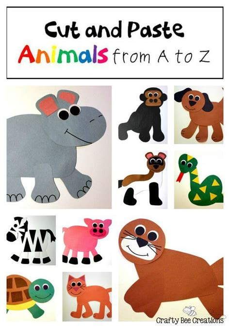 Paper Pasting Craft - cut and paste the o jays and animals on