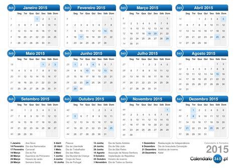 Calendario C Feriados 2015 Calend 225 2015