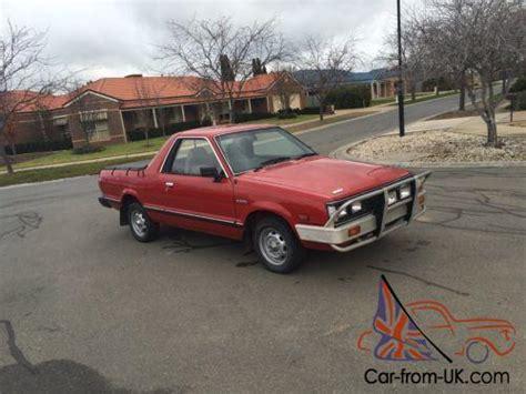 subaru ute subaru brumby ute 4x4 1990 model