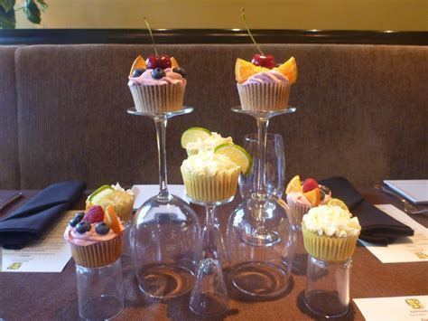 Cupcake Decoration w/ Wine Glass: For Elgant Evening or