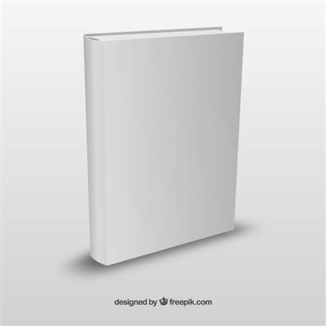 realistic book template vector free