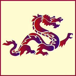 dragon japanese stencil designs chinese dragon the