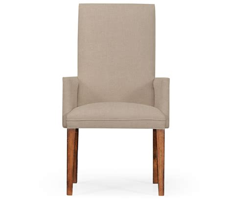 fully upholstered dining chair arm