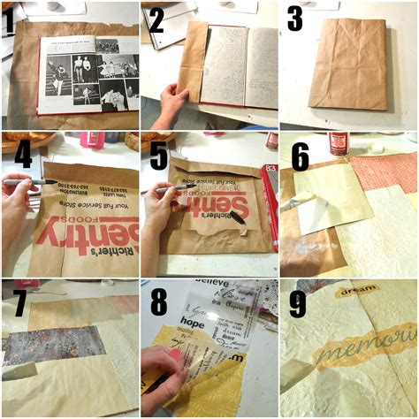 How Do You Make A Paper Bag Book Cover - make a decoupage book cover decoupage paper book cover