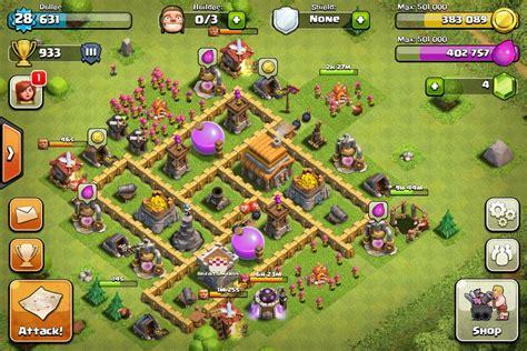 coc layout defense th5 plans de base