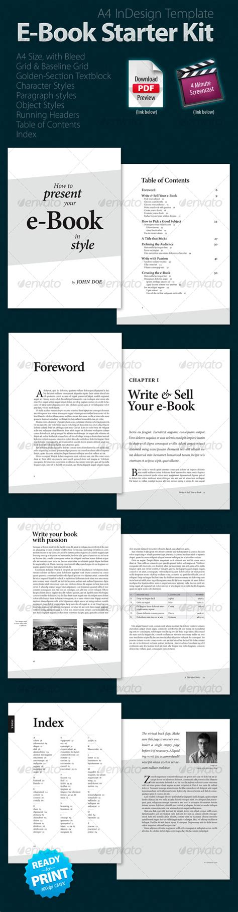 pdf ebook templates e book starter kit graphicriver