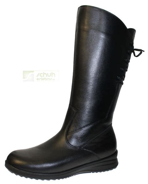 Comfort Boots by Finn Comfort Boots Sestriere Black Soft Nappa Care Woly