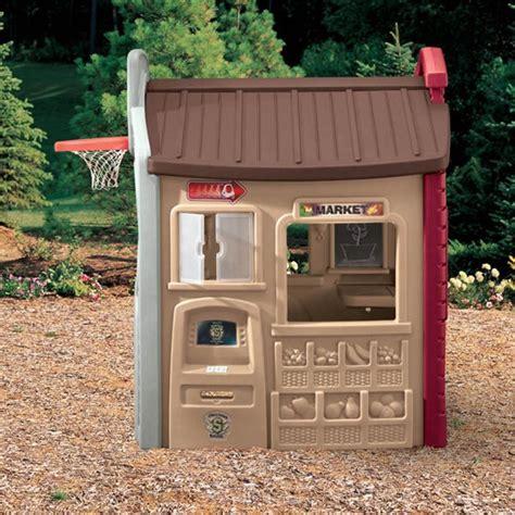 Plastic Log Cabin Playhouse by Children Playhouse Plastic Outdoor Garden Backyard