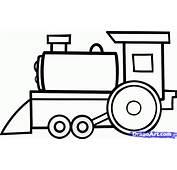 Drawn Cartoon Train  Pencil And In Color