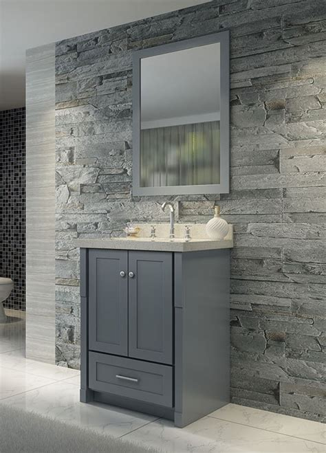 ariel single 25 inch transitional bathroom vanity