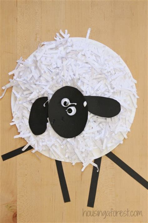 Paper Plate Sheep Craft - paper plate sheep craft housing a forest