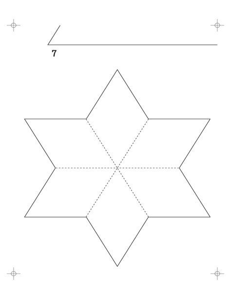 six pointed star template free download