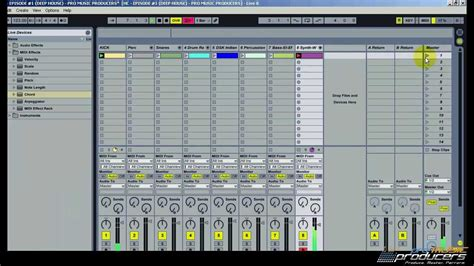 make drum pattern ableton ableton tutorial deep tech house tutorial how to make a
