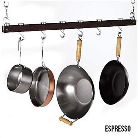 Retractable Pot Rack Concept Housewares 36 Inch Hardwood Hanging Pot Rack