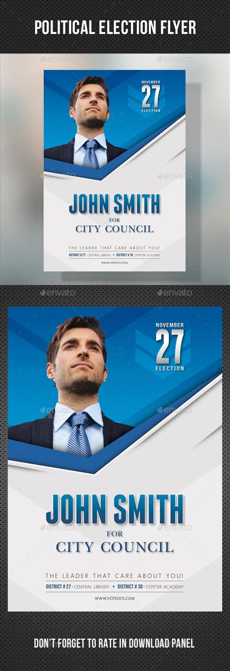 political election flyer template v2 by rapidgraf