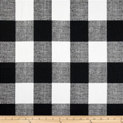 Anderson Upholstery Premier Prints Anderson Check Black White Discount