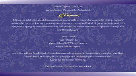 kartu uleman undangan pernikahan bahasa sunda harga murah