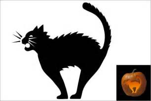 black cat templates for 44 spooky cat pumpkin stencils you ll carving this