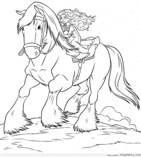 coloring pages of disney horses tranh to mau cong chua disney 47 coloring 5 pinterest