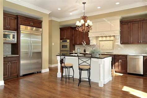 kitchen home design transitional medium tone wood floor kitchen 43 quot new and spacious quot darker wood kitchen designs layouts