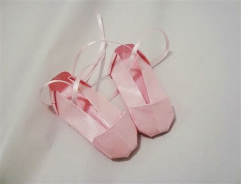 Origami Ballet Shoes - origami ballet shoes easy origami for